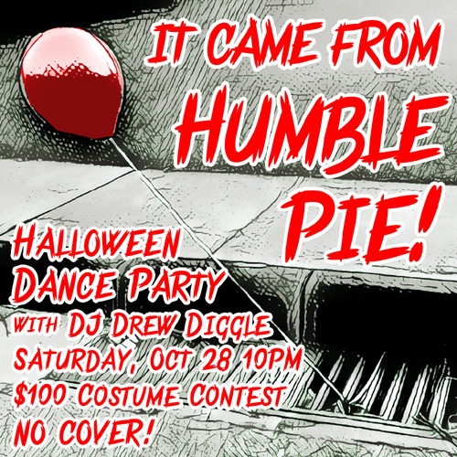 DJ Drew Diggle Flyer Halloween Humble Pie 2017