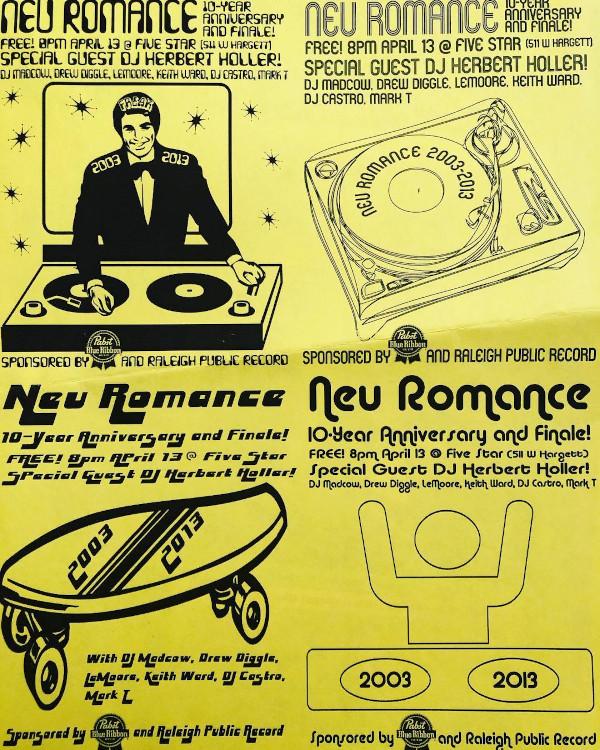 DJ Drew Diggle Neu Romance 10th Anniversary Flyers
