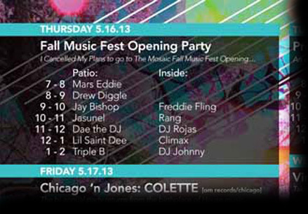 DJ Drew Diggle Flyer MFMF 2013
